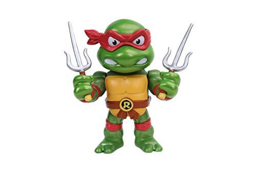 Jada - Figura Raphael de Tortugas Ninja, Articulada, 10 cm, Realizada en Metal Fundido a Presión, 100% Licencia Oficial, Coleccionismo, para Niños a Partir de 8 Años y Adultos
