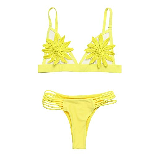SGMORE 2019 Bikini Set, Vrouwen Push-up Padded Bra Floral Bikini Set Badpak Badmode