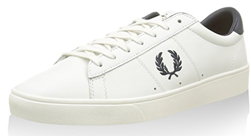 Fred Perry Unisex-Adult Spencer Leather Sneaker, Porcelain, 7 D UK (8 US)