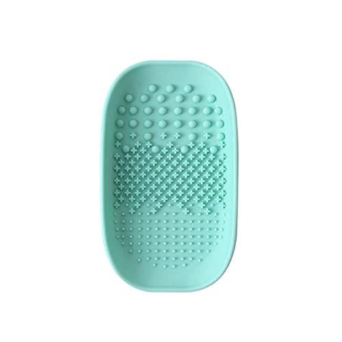 Minkissy Make-Up Pinsel Reiniger Matte Silikon Kosmetik Pinsel Reinigungsmatte für Die Heimreise Hellgrün
