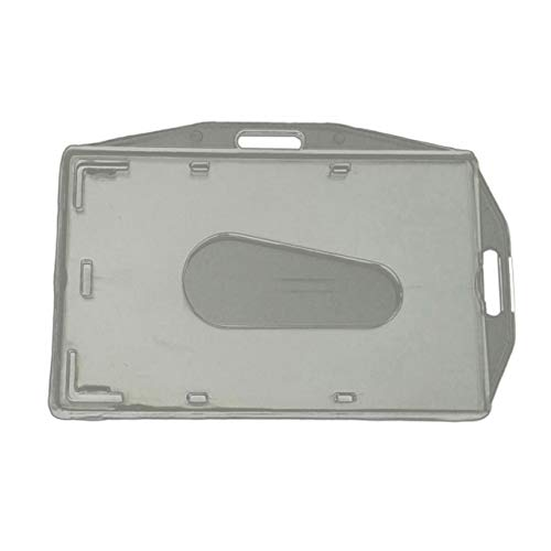 jingshou396 Tarjetero Tarjetero Horizontal y Vertical Bidireccional Integrado Pc Transparente Tarjetero de plástico Duro Tarjetero Interior