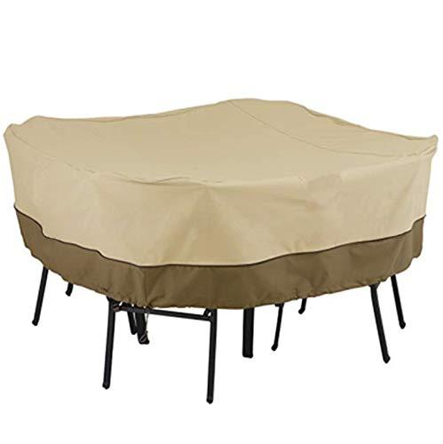 YOPRIA Muebles de jardín Cubierta de Mesa y Silla Cubierta Exterior terraza Grande terraza Cubierta, Impermeable Exterior Ocio terraza Muebles Cubierta de Polvo YR26403