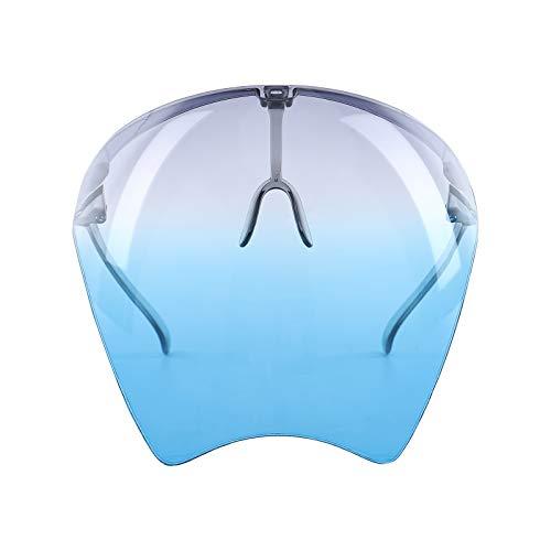 Nokiwiqis Gafas de sol de esquí para hombres y mujeres, visera de playa de verano, cubierta de cara completa, protección solar UV, protección solar (gris, azul, talla única)