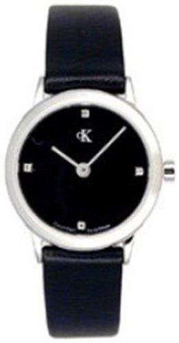 Calvin Klein - Reloj analógico de Cuarzo para Mujer con Correa de Piel, Color Negro