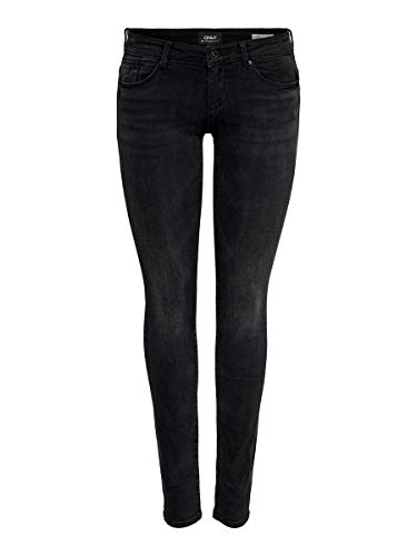 ONLY Damen Onlfcoral Sl Sk Jns Bb Az141700 Noos Jeans, Schwarz (Black Denim Black Denim), 26W 30L EU