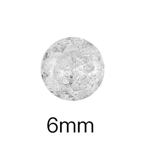 Cristaux de glace transparents pierres petite taille colle sur les ongles strass Pointback verre clair S ongles décoration pierres lâches, fleur de gemme 6 mm, 10 pièces
