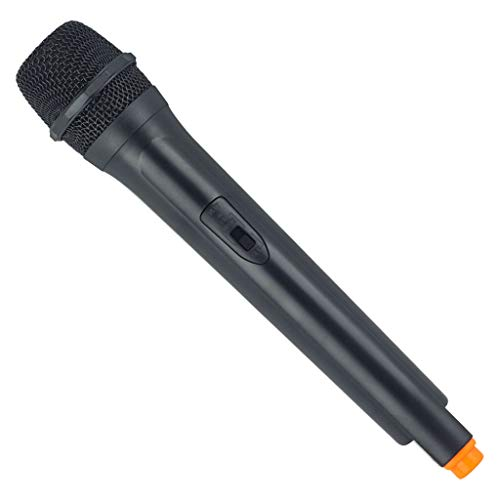 perfk Kinder Mikrofon Spielzeug, Deko Mikrofon Singen Requisiten Party Zubehör Dekoration - Orange