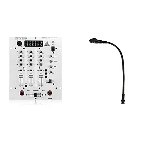 Behringer PRO MIXER DX626 3-Kanal DJ Mixer & American Audio Mini LED Gooseneck lamp BNC