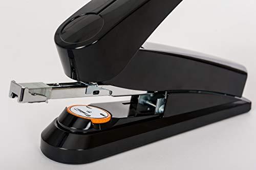 Novus B8fc Flat Clinch Stapler, Power on Demand=70% Less Effort, 50 Sheet Capacity, German Engineered, Staple|Pin|Tack, Black (020-1673) Photo #2