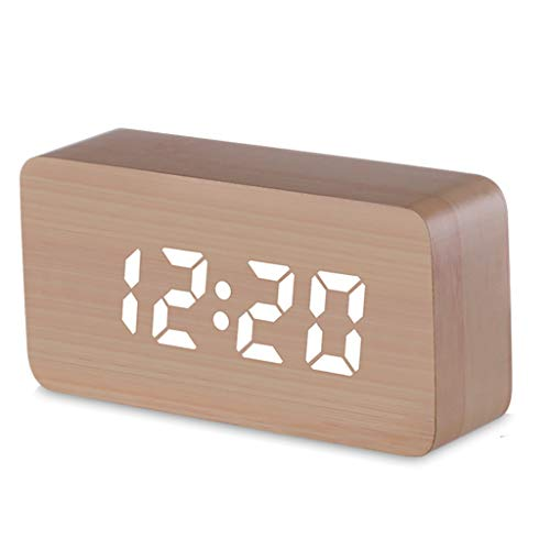 BOWCORE LED digitale display wekker, toont tijd en datum temperatuur en vochtigheid, met snooze functie en het opladen van twee mobiele telefoons op hetzelfde moment