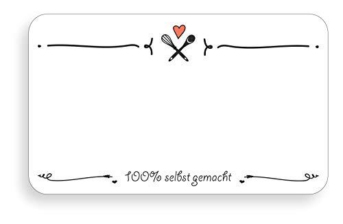 TYPOGRAPHUS 210 selbstklebende Etiketten zum Beschriften - 63x38 mm - Ablösbare Papieraufkleber für Gläser, Marmelade, Einmachgläser (SW1)