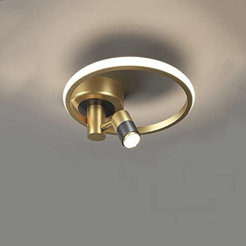 Lámpara De Techo LED Regulable Para Pasillo, Luz De Techo Creativa Para Dormitorio De 18W Luces De Pasillo Con Focos Pantalla De Silicona Lámpara LED Para Sala De Estudio Con Luz Interior