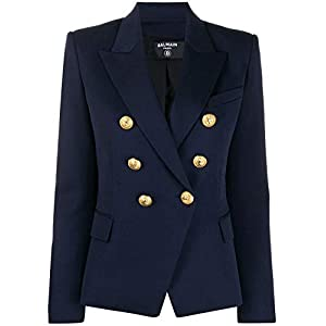 Balmain Luxury Fashion Damen TF1997498132L6UC Blau Wolle Blazer | Frühling Sommer 20