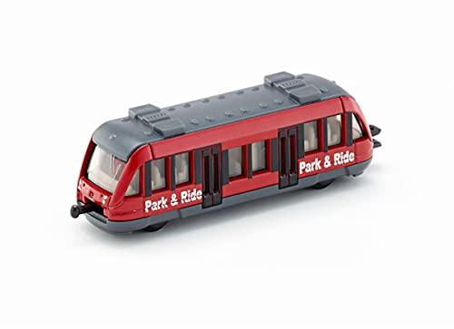siku 1013, Tren de cercanías, Metal/Plástico, Rojo, Enganches para remolque de tren estándar siku para conectar con otros trenes