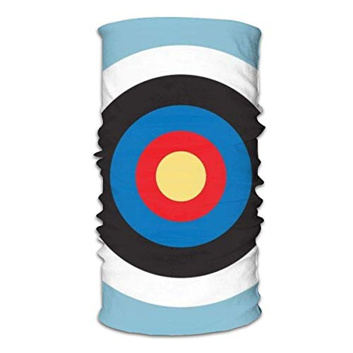 shenhaimojing Bandeau Foulard Cache Cou Tubulaire Echarpe Gaiter Windstopper Echarpe Foulard en Tube Tour De Cou Echarpe,Bulls Eye Right on Target Roundel Archery Mod Hit on Blue