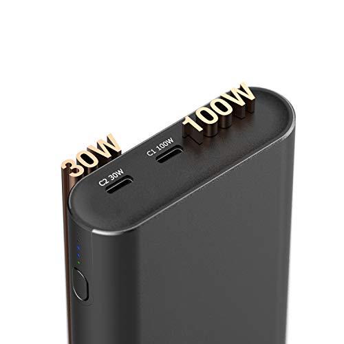helpers lab 130W Powerbank USB C PD 100W 30W Ausgang Externer Akku mit PPS QC3.0 für iPhone 12 Pro MacBook Pro 2017 2020, XPS 12 13, Zenbook,XiaoMi Air Pro, Surface Go, Galaxy S10 S20 usw