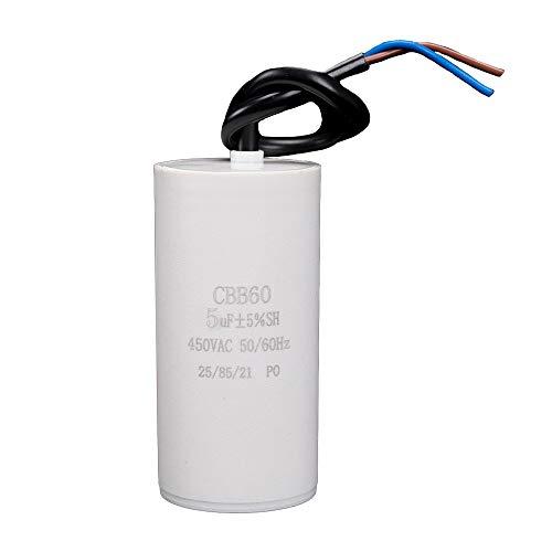 ICQUANZX 5uF CBB60 Waschmaschine KondensatorAC450V 50 / 60Hz Startkondensator Waschmaschine Pumpenmotor (1PC)