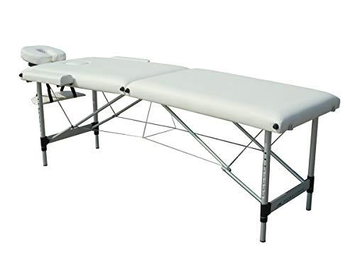 Mobiclinic, Light, Camilla Fisioterapia Plegable, Cama de masaje, Reposacabezas, Aluminio y polipiel, 186x60 cm, Portátil, Crema
