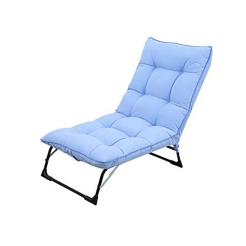 XJAXY Outdoor Lounge Lehnstuhl, Stoff Langer Stuhl, Mit Einem Bequemen Wattepad, Sommer- Und Wintergartenstuhl Verstellbarer Patio Lounge Chair Folding Bed,B