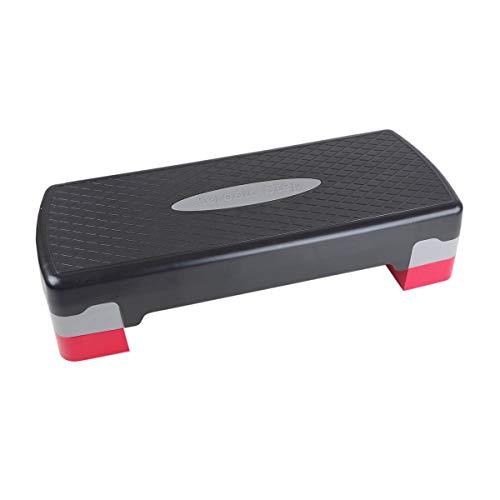 Filmer Aerobic Steppbrett, schwarz/Grau/Rot, One Size