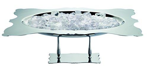 MEPRA in Acciaio Inox, Stile Dolce Vita a Quadretti, Blu Reale, con Plateau, Colore: Argento