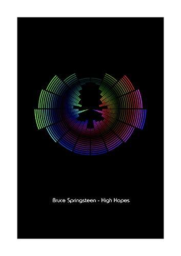 Bruce Springsteen – High Hopes – Sound Wave Vector Kunstdruck – A4 Größe
