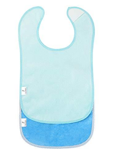 2er Set - Baby Dreieckstuch Lätzchen Kleinkind Kinderlätzchen Frottee mit Klettverschluss Größenverstellbare Latz extra lang saugfähig Sabberlätzchen-Frottee aus 100% Baumwolle