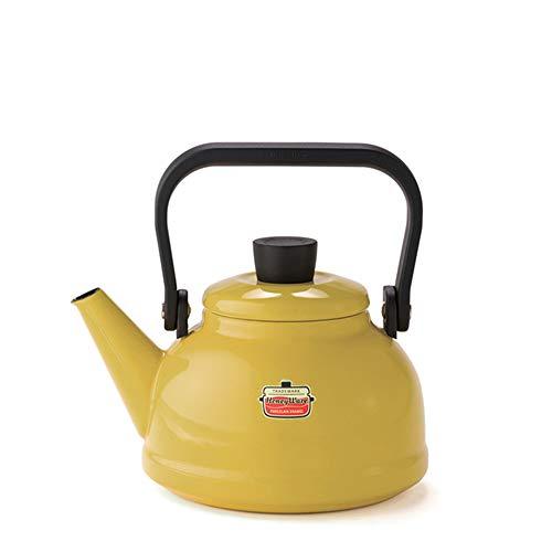 [ハニーウェア] Honey Ware Solid IH可 1.6Lケトル マスタード 富士ホーロー