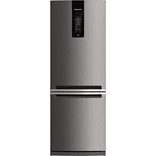 Geladeira Brastemp Frost Free Inverse 443 litros cor Inox com Turbo Ice - 110V