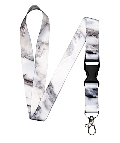 Lanyard for Keys Keychain Lanyard Premium Soft Silky Wide Strapped Beautifully Printed ID Teacher Lanyard with Spring Clip for Women/Men