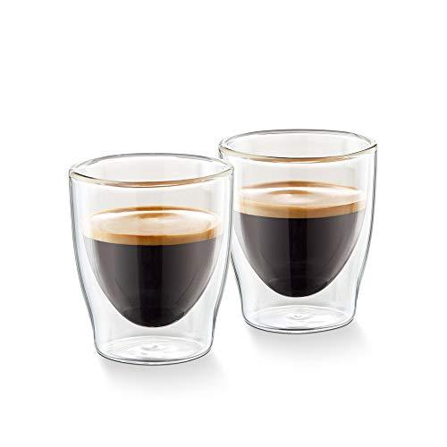 Tchibo Cafissimo Gläser, doppelwandiges Thermoglas 2er Set (Espresso Gläser)