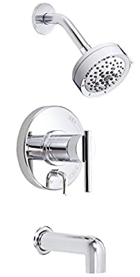 Danze D510058T Parma Single Handle Tub and Shower Trim Kit with Five Function Showerhead, Chrome
