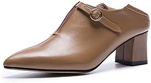 HommesGLTX HommesGLTX HommesGLTX Talon Aiguille Talons Hauts Sandales Haute Qualité élégant Talons Plateforme Plateforme Escarpins Escarpins en Cuir Véritable Bureau Pompes Pointu Toe Chaussures Femme a15