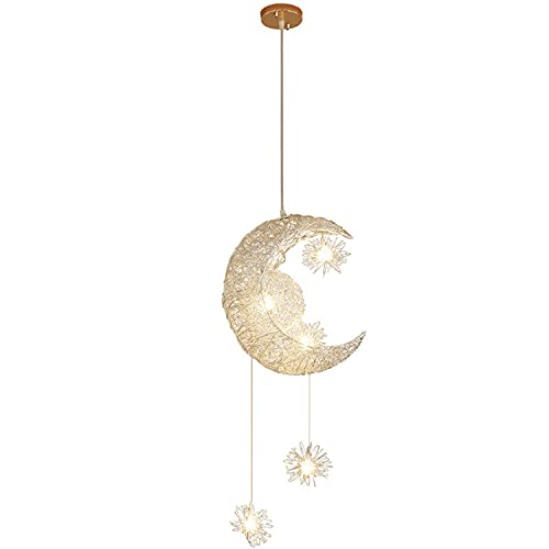 Luna Y Estrellas Lámparas Colgantes Led Lámparas De Aluminio Para La Iluminación De La Habitación De Los Niños Para La Decoración Del Hogar [clase De Eficiencia Energética A]