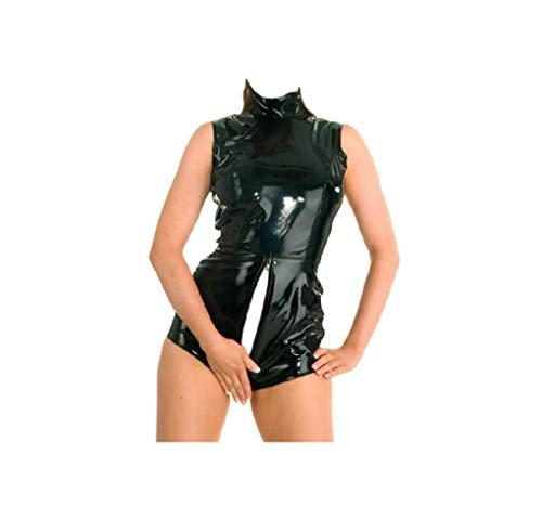 GGTBOUTIQUE Reversible para llevar Catwoman Negro PVC Catsui