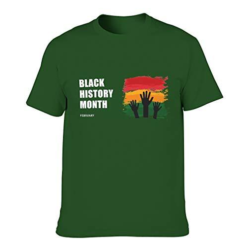 Camiseta negra con diseño de mes de historia para hombre, estilo europeo, con sensación transpirable, regalo para año nuevo