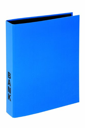 Pagna 40851-06 Bankordner A4 Basic Colours, 2-Bügel-Mechanik, Niederhalter laminierter Papiereinband, blau