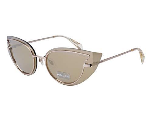 Gafas de sol de policía Euphoria 1 (SPL 939 594G) dorado marrón gris negro dorado espejo 594G metal dorado marrón gris negro – espejo dorado