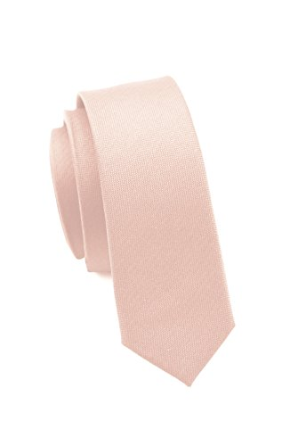 Parsley extra schmale Krawatte│4 cm super skinny Tie, Schlips, Binder, Herrenkrawatte │100% hochwertige Seide │ uni, einfarbig: Rosé