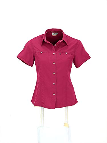 Maul Damen Oria 1/2 Bluse Uni, pink, 36