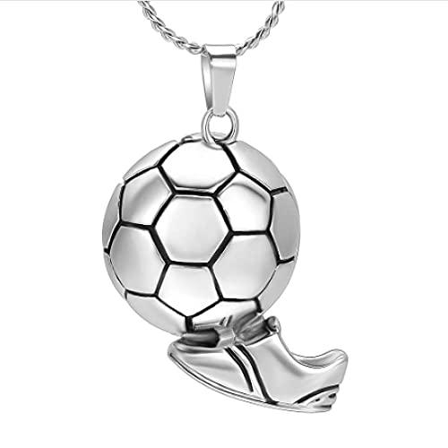 MITIAN Fußball-Kinder-Halskette mit Anhänger, Urnen-Anhänger für Männer und Kinder, mit kostenlosem Logo