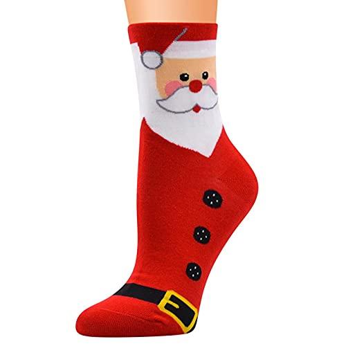 URIBAKY - Calcetines de Navidad para mujer, algodón, diseño de Lady, d, Talla única