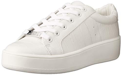 Steve Madden Bertie Zapatillas para Mujer, Color White Croco, 25.5