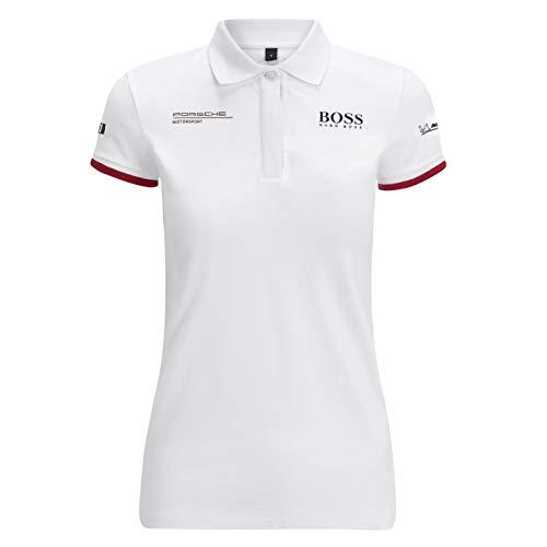 Porsche Motorsport Polo pour femme Blanc - blanc - Taille XS