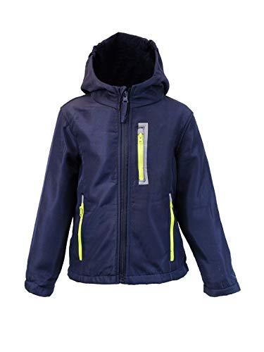 Kinder Jungen Softschelljacke Outdoorjacke Übergangsjacke Jacke Blau Blau 110/116 FALLEN KLEINER AUS SIEHE GRÖßENTABELLE BEI DEN FOTOS