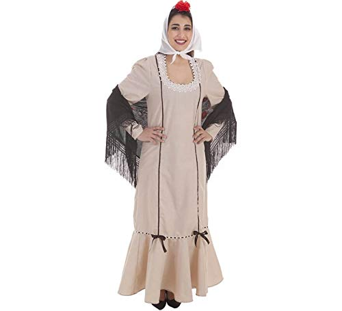 Creaciones Llopis Disfraz de Chulapa Beige para Mujer