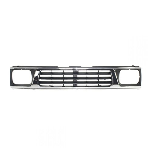 Grille Grill Chrome & Black Front End for 93-96 Mitsubishi Mighty Max