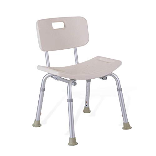 Home Shower Chair Bathtub Shower Lift Chair Bath/Shower Stool Handicap Shower Seats with Comfortable Backrest Height Adjustable for Elderly Adults