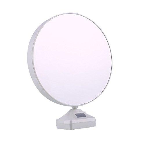 Muxiao Lámpara de mesa multifunción, creativa, marco de fotos, redonda, espejo LED, marco de fotos, boda, estudio de fotos, marco de fotos, batería, no incluido
