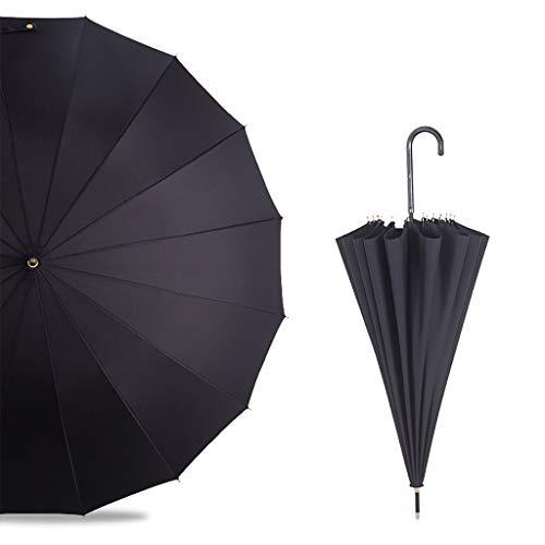 Unbekannt HongLianRiven Literarischer Regenschirm mit langem Griff Großer Retro-Regen und Regen Antiker Regenschirm mit doppeltem Verwendungszweck Sen Small Fresh Multicolor Selection (Color : C)